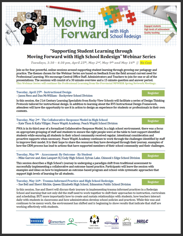 2017 Moving Forward with High School Redesign Webinar Series